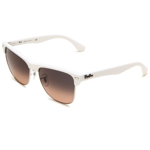 Ray-Ban Women's 'Clubmaster' Matte White Wayfarer Sunglasses