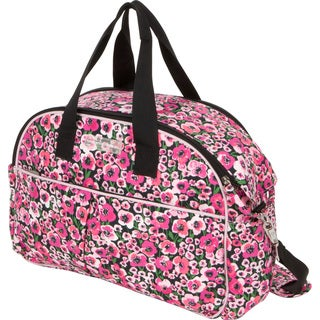 The Bumble Collection Erica Carryall Diaper Bag in Peony Paradise