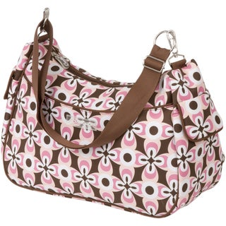 The Bumble Collection Taylor Transitional Tote Diaper Bag in Pink Geo