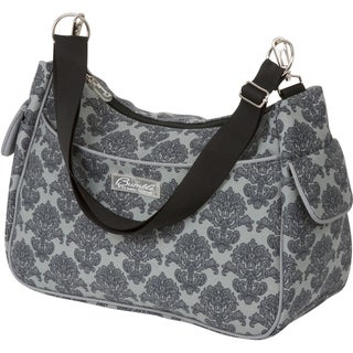 The Bumble Collection Taylor Transitional Tote Diaper Bag in Grey Filigree