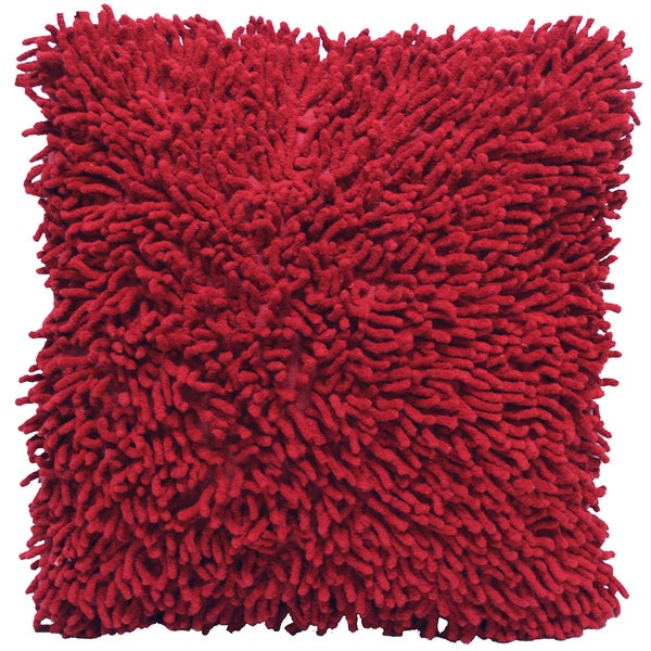 Burgundy Shagadelic Chenille 18-inch Double Side Pillow
