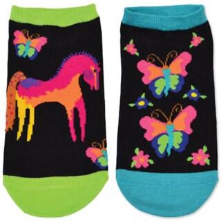 Laurel Burch Socks 2/Pair-Mystical Horse