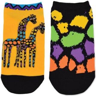 Laurel Burch Socks 2/Pair-Giraffes