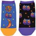 Laurel Burch Socks 2/Pair-Celestial Cat