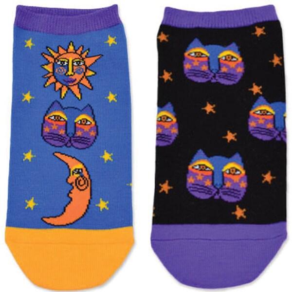 Laurel Burch Socks 2/Pair-Celestial Cat