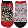 Laurel Burch Socks 2/Pair-Polka Dot Felines