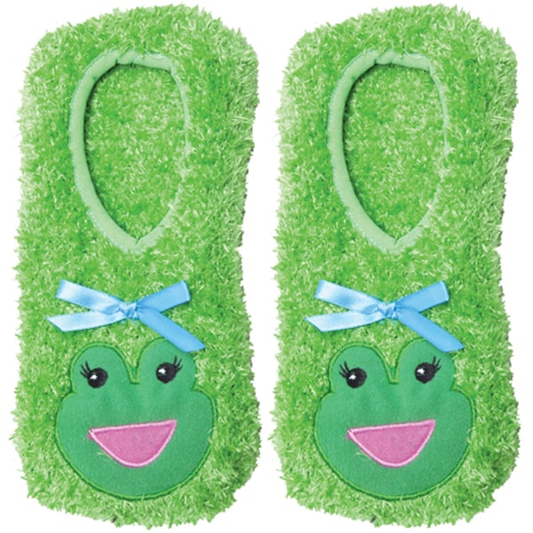 Novelty Slippers-Green Frog