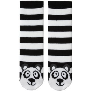 Tubular Novelty Socks-Panda -Black & White Stripe