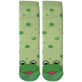 Tubular Novelty Socks-Frog -Green Bubbles
