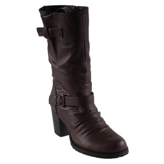 Dreams by Beston Women's 'Kina' Brown Boots