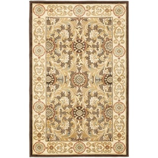 Paradise Eden Tranquil Brown/ Ivory Viscose Rug (8' x 11' 2)