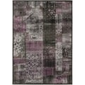 "Paradise Transitional Charcoal-Gray Viscose Rug (2'7"" x 4')"