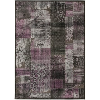 Paradise Transitional Charcoal-Gray Viscose Rug (2'7