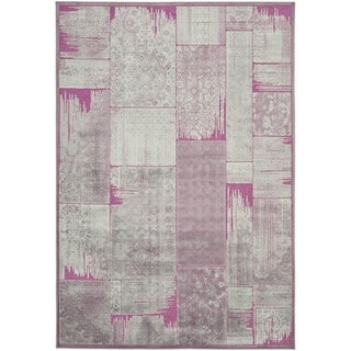 Safavieh Paradise Purple Floral Viscose Rug (8' x 11' 2)