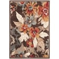 Paradise Dark Brown Viscose Rug (4' x 5' 7)
