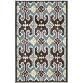 Paradise Anthracite Grey Viscose Rug (2' 7 x 4')