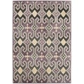 Paradise Purple Traditional Viscose Rug (4' x 5' 7)