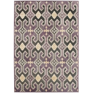 Paradise Purple Viscose Area Rug (8' x 11' 2)