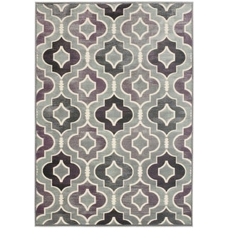 Large Paradise Gray Viscose Rug (8' x 11'2)