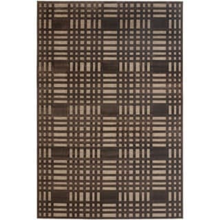 Paradise Brown Viscose Rug (5' 3 x 7' 6)