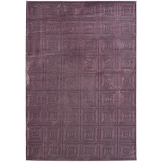 Paradise Purple Geometric Viscose Rug (8' x 11' 2)