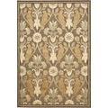Paradise Brown Viscose Rug (4' x 5' 7)