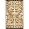 Paradise Tiger Mocha Brown Viscose Rug (2' 7 x 4')