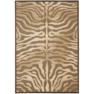 Safavieh Paradise Tiger Mocha Brown Viscose Rug (5' 3 x 7' 6)
