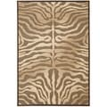Paradise Tiger Mocha Brown Viscose Rug (8' x 11' 2)