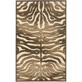 Paradise Tiger Cream Viscose Rug (2' 7 x 4')
