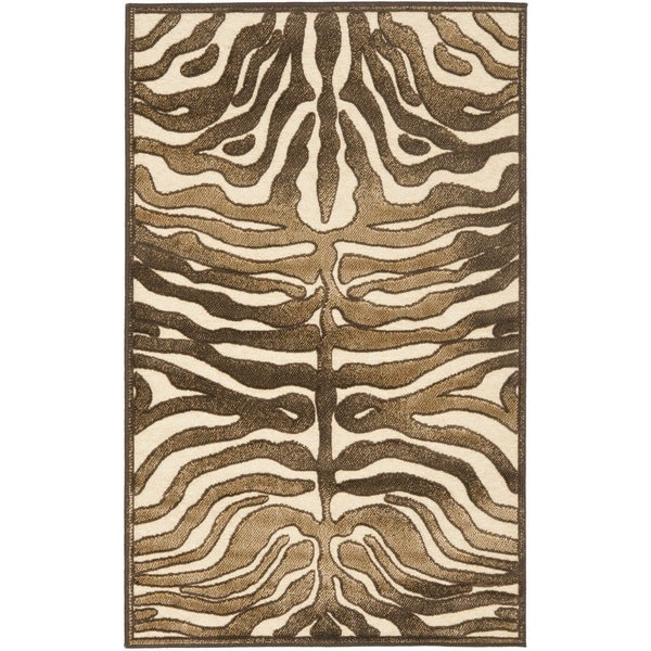 Safavieh Paradise Tiger Cream Viscose Rug (2' 7 X 4