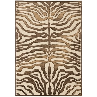 Paradise Tiger Cream Viscose Rug (5' 3 x 7' 6)