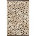 Paradise Leopard Light Brown Viscose Rug (2' 7 x 4')