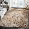 Paradise Leopard Light Brown Viscose Rug (8' x 11' 2)