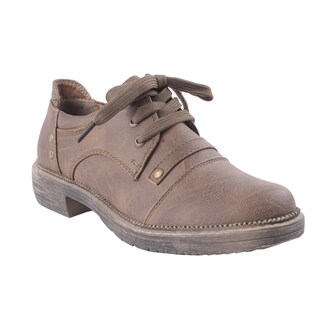 Liliana by Beston Women's 'Harvey' Natural Oxford Shoes