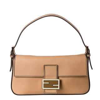 Fendi Beige Leather Baguette with Interchangeable Straps