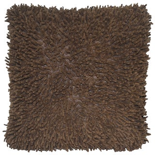 Brown Shagadelic Chenille 18-inch Double Side Pillow