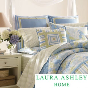 Laura Ashley Somerset 100 percent Cotton 4-piece Comforter Set