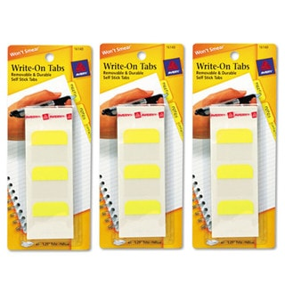 Avery Write-on Removable 1.25-inch Yellow Tabs (Pack of 144)