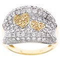 D'sire 10k Gold 1 3/8ct TDW Yellow and White Diamond Ring (H-I, SI2)