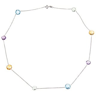 La Preciosa Sterling Silver Multi-gemstone Necklace