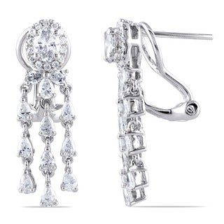 Miadora 14k White Gold 1 4/5ct TDW Diamond Earrings (G-H, SI1-SI2)