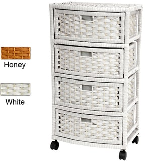 Natural Fiber Four-Drawer Storage Chest (China)