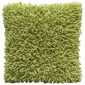 Green Shagadelic Chenille 18-inch Double Sided Decorative Pillow