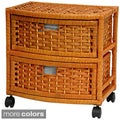 Natural Fiber Two-Drawer Storage Chest (China)