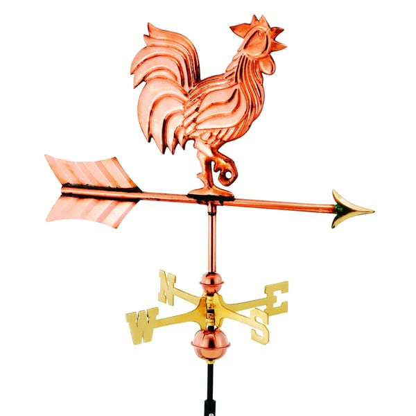Garden Rooster Copper Weather Vane