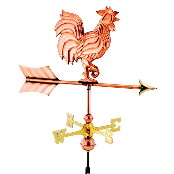 Garden Rooster Copper Weather Vane