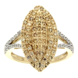 D'sire 10k Gold 5/8ct TDW Yellow and White Diamond Ring (H-I, SI2)