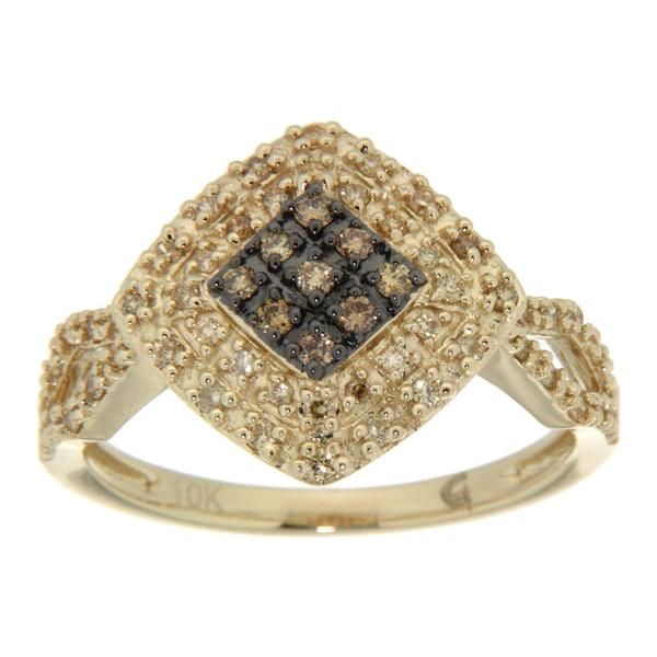 D'sire 10k Yellow Gold 1/3ct TDW Yellow Diamond Ring