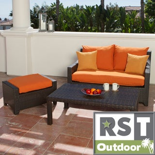RST Outdoor 'Tikka' Patio Love Seat and Ottoman Set